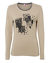 Basler Placement Print Jersey Top