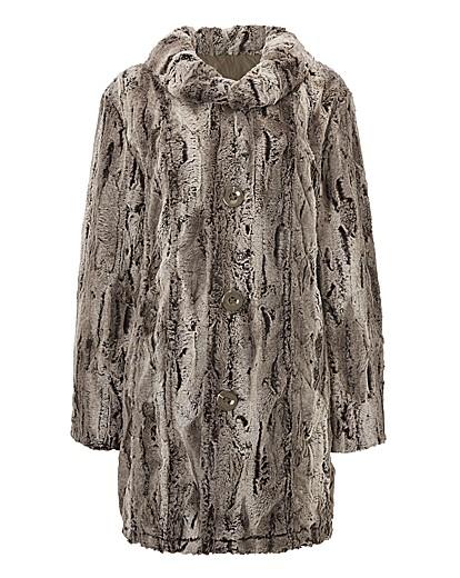 Lebek Reversible Faux Fur Long Coat