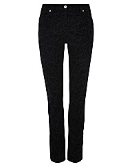 Gelco Flocked Straight Leg Jeans