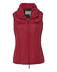Gelco Puff Collar Zip Up Silky Gilet