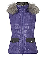 Betty Barclay Padded Faux Fur Hood Gilet