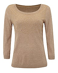 Gray & Osbourn Fine Knit Beaded Jumper