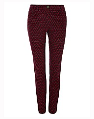 Olsen Diamond Printed Slim Leg Trousers