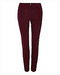 Olsen Diamond Printed Slim Leg Trousers