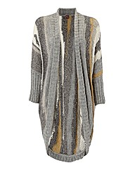 Olsen Textured Knitted Open Cardigan