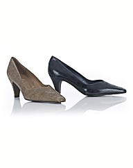 Cefalu Lizard Print Pointed Court Shoes