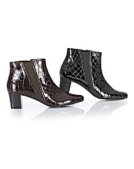 Lotus Mock Croc Heeled Ankle Boots