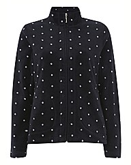 Alice Collins Polka Dot Fleece Jacket