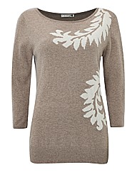 Leaf Printed Knit Jumper