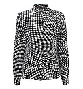 Houndstooth Print Blouse