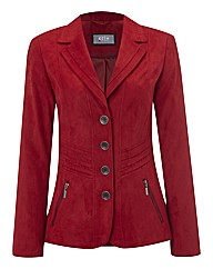 Kirsten Mock Suede Jacket With Pockets
