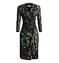 Apanage Printed Flocked Velvet Dress