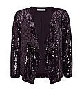 Gina Bacconi Sequin Open Jacket