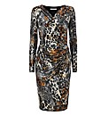 Gina Bacconi Leopard Print Dress