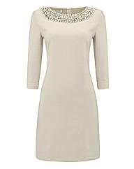 Apanage Pearl Collar Shift Dress