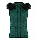 Betty Barclay Zip Up Faux Fur Hood Gilet