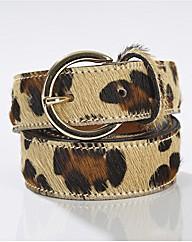 Gardeur Leopard Print Belt