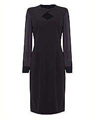 Eve Pollard Keyhole Feature Fitted Dress