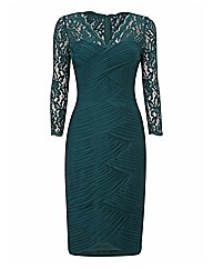 Adrianna Papell Mesh & Lace Dress