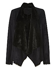Apanage Faux Suede & Fur Jacket