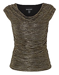 Frank Lyman Cowl Neck Ruched Top