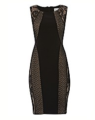 Joseph Ribkoff Lace Overlay Jersey Dress