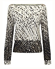Joseph Ribkoff Abstract Print Silky Top