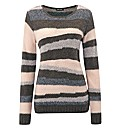 Gerry Weber Textured-Stripe Jumper