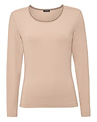 Gerry Weber Sequin Neck Jersey Top