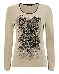 Gerry Weber Printed Top With Stud Trim