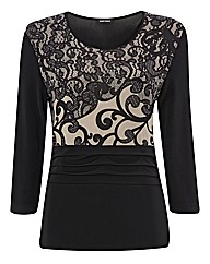 Gerry Weber Lace Print Jersey Top