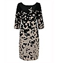 Gina Bacconi Long Sleeved Print Dress