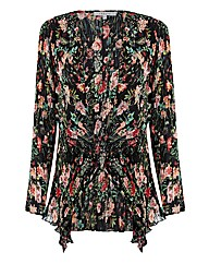 Chesca Floral Georgette Waterfall Jacket