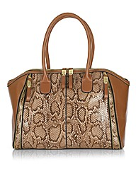 Jane Shilton Python Panel Tote Bag
