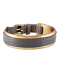 Sence Leather Trim Cuff