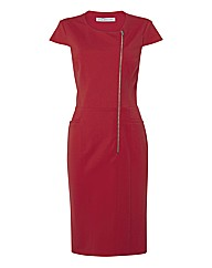 Gina Bacconi Red Ponte Jersey Dress