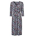 Gina Bacconi Printed Jersey Dress