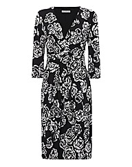 Gina Bacconi Rose-print Jersey Dress