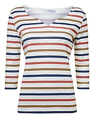 Gray And Osbourn Multi Stripe Jersey Top