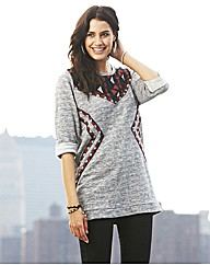 Folk Trim Sweater