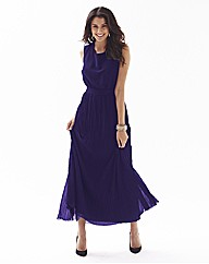 Pleated Maxi Dress With Scoop Back