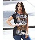 Animal Print Cocoon Blouse