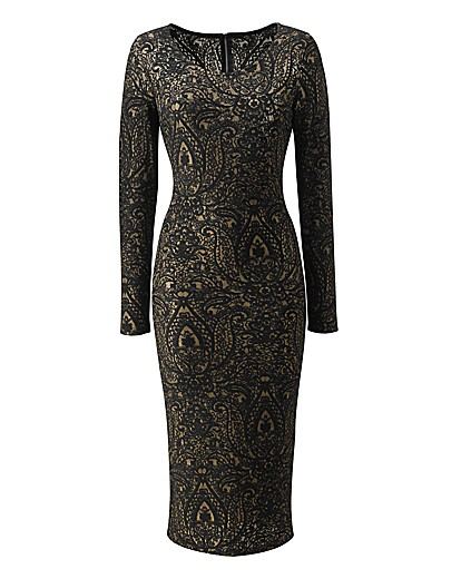 Lace Midi Bodycon Dress