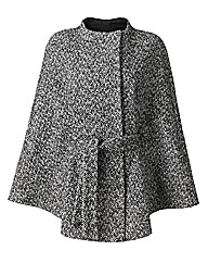 Belted Cape Coat Length 27in