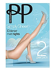 Pretty Polly Simply Sheer Tights Pk4