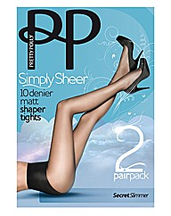 Pretty Polly Sheer Slimmers Tights Pk4