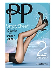 Pretty Polly Sheer Slimmer Tights Pk4