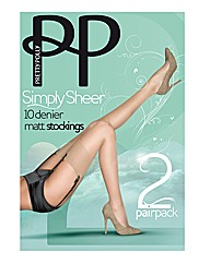 Pretty Polly Simply Sheer Stockings Pk4