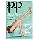 Pretty Polly Simply Sheers Stockings Pk4