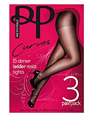 Pretty Polly Curves Ladder Resist Pk6